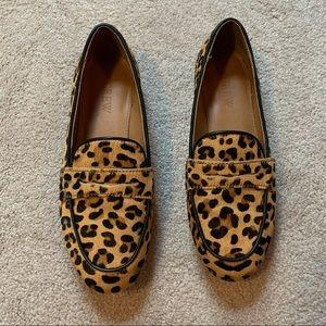 J. Crew leopard loafers